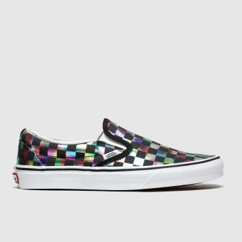 Vans Black & Silver Classic Slip-on Check Womens Trainers