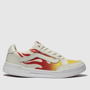 Vans White & Red Highland Womens Trainers
