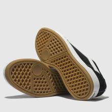 Damen vans Schwarz weiß Highland Sneaker