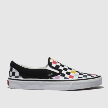 Vans Black & Multi-Coloured Classic Slip-On Womens Trainers
