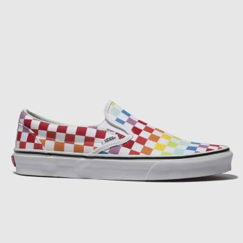 Vans White & Red Classic Slip-On Womens Trainers
