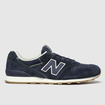 New Balance Navy & White 996 Trainers