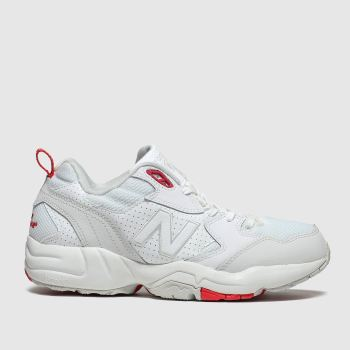 new balance white & red 708 trainers