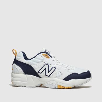 New Balance White & Navy 708 Womens Trainers