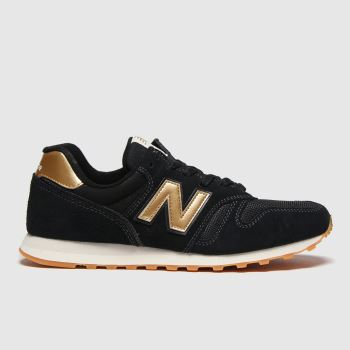 New balance Black & Gold 373 Womens Trainers#