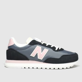 New balance Black & pink 527 Womens Trainers#