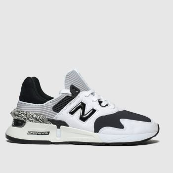 New Balance White & Black 997 Trainers