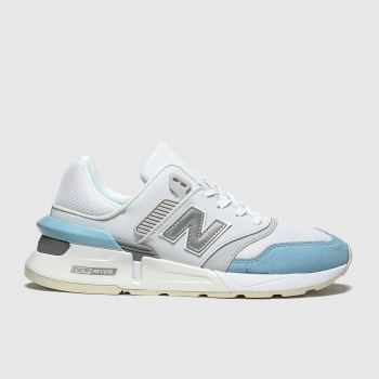 New Balance White & Pl Blue 997 c2namevalue::Womens Trainers