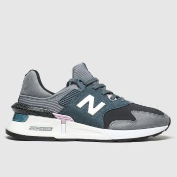 New Balance Black & Green 997 Womens Trainers