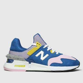 new balance blue & yellow 997 trainers