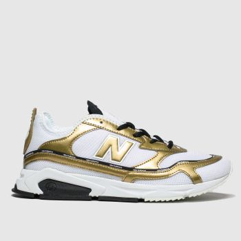 New Balance White & Gold Xrc Trainers