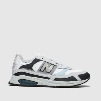 new balance white & grey xrc trainers