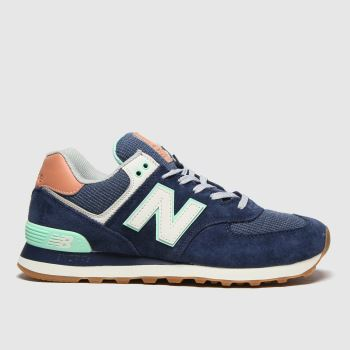 New balance Navy 574 Womens Trainers