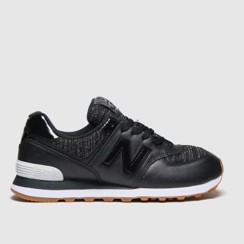 New balance Black 574 Womens Trainers#