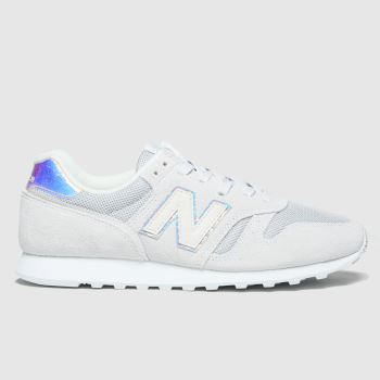 New Balance Light Grey 373 Iridescent Womens Trainers#