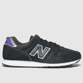 New Balance Black & White 373 Iridescent Womens Trainers