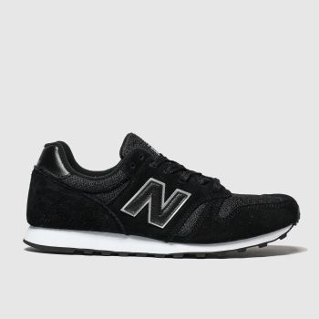 New Balance Black & Silver 373 Womens Trainers