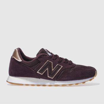 New Balance Burgundy 373 Suede & Mesh Womens Trainers