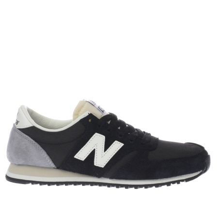 Womens Black & Grey New Balance 420 Suede Trainers | schuh