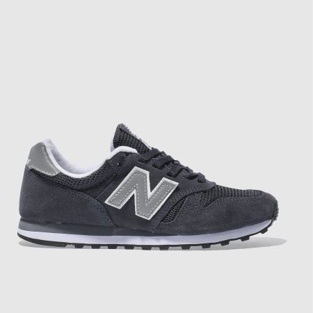quality design b33ef 15328 new balance navy & silver 373 trainers