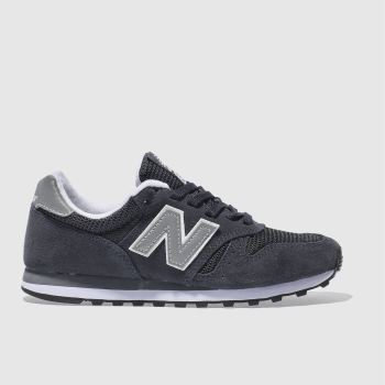 new balance 373 womens trainers in black white