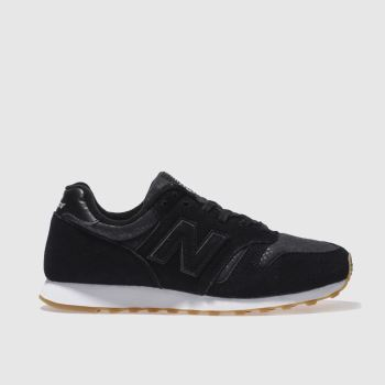 New Balance Black & White 373 Trainers