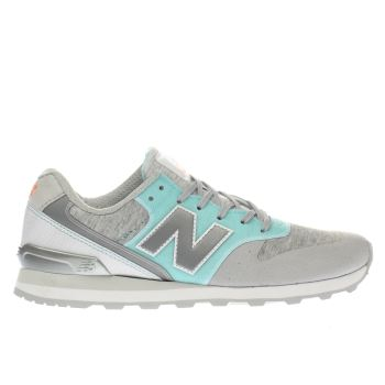 new balance blue 996 synthetic trainers