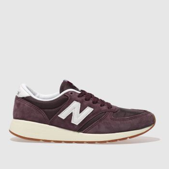 NEW BALANCE BURGUNDY 420 REV-LITE TRAINERS