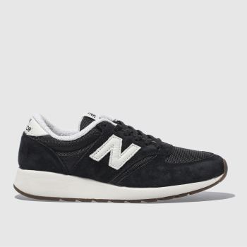 New Balance Black & White 420 REV LITE SUEDE Trainers