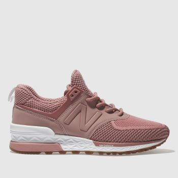 New Balance Pink 574 V Trainers