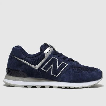 New Balance Navy 574 V2 c2namevalue::Womens Trainers