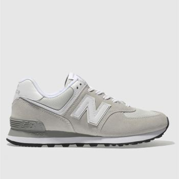 New Balance Grey 574 Suede Womens Trainers