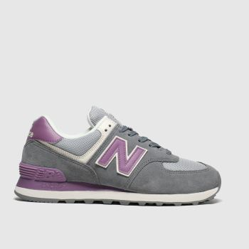 New Balance Dark Grey 574 Womens Trainers