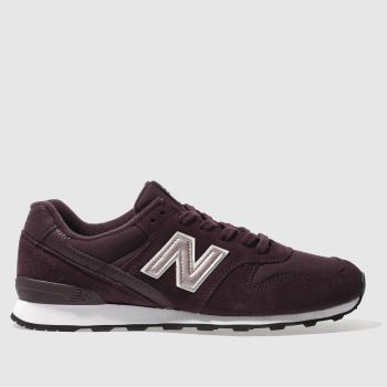 New Balance Burgundy 996 Metallic Womens Trainers