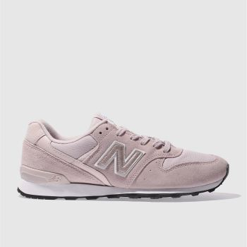 New Balance Pale Pink 996 Metallic Womens Trainers