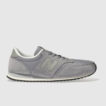 New Balance Grey 420 Suede Womens Trainers