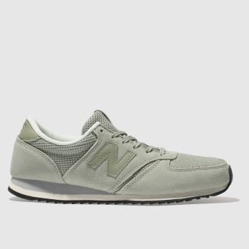 New Balance Light Green 420 Suede Womens Trainers