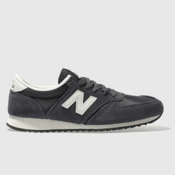New Balance Navy & White 420 Suede Womens Trainers