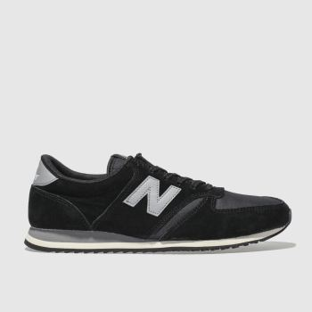 New Balance Black & Grey 420 Suede Womens Trainers