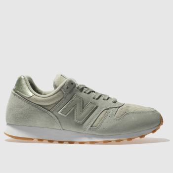 New Balance Light Green 373 Suede Womens Trainers
