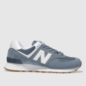 New Balance Navy & White 574 V2 Womens Trainers