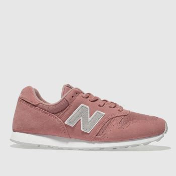 New Balance Pink 373 V1 Suede Womens Trainers