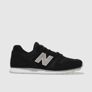 New Balance Black & Grey 373 V1 Suede Womens Trainers