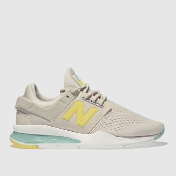 New Balance White & Yellow 247 V2 Pop Womens Trainers