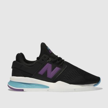 New Balance Black & Purple 247 V2 Pop Womens Trainers