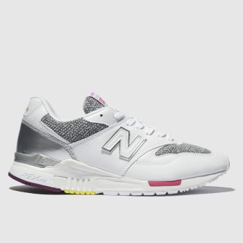 New Balance White & grey 840 V1 Trainers