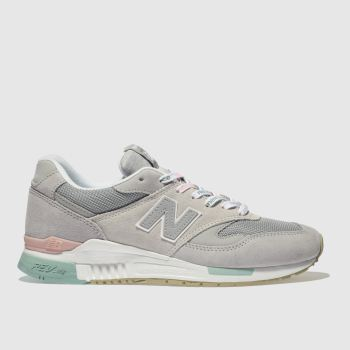 NEW BALANCE GREY 840 V1 SUEDE TRAINERS