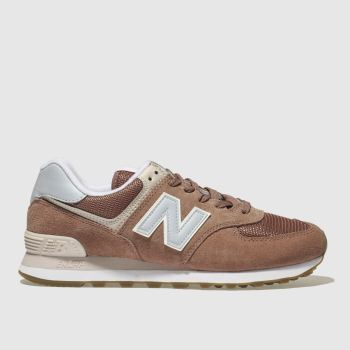 New Balance Pink 574 V2 Suede Womens Trainers
