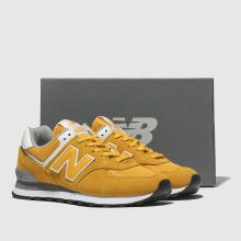 cheaper fa58d 3c952 new balance yellow 574 v2 suede trainers