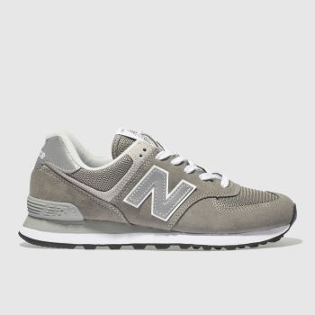 New Balance Grey 574 V2 Suede Womens Trainers